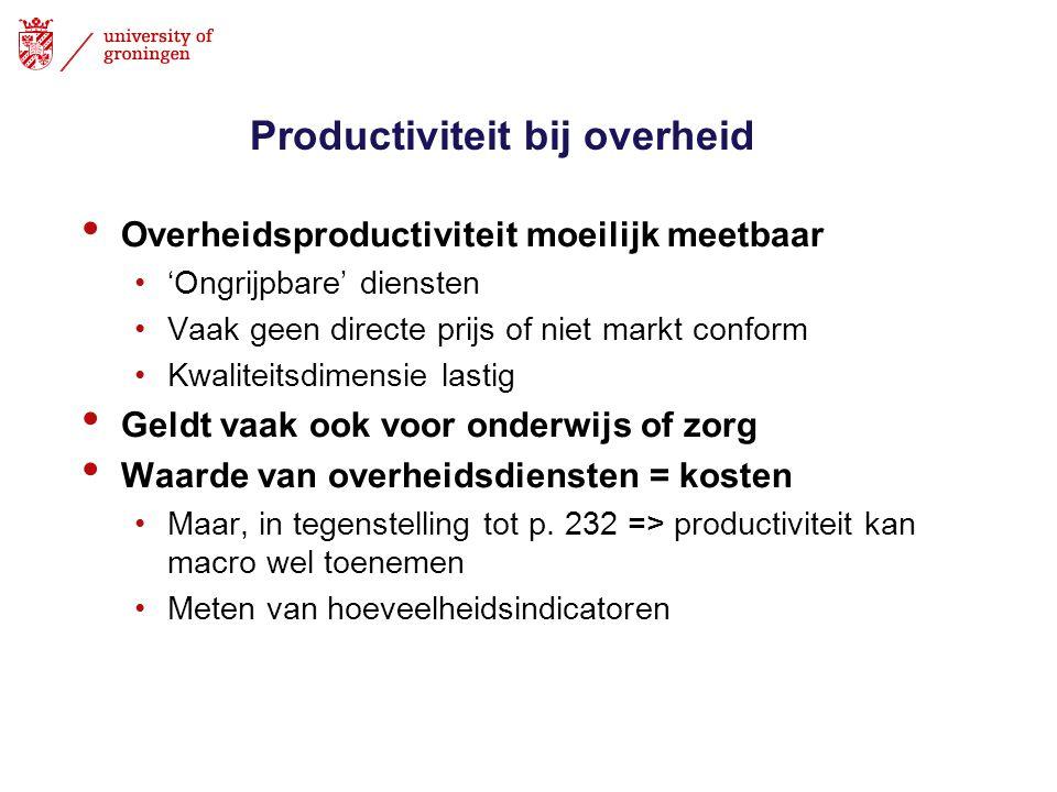 Productiviteit bij overheid