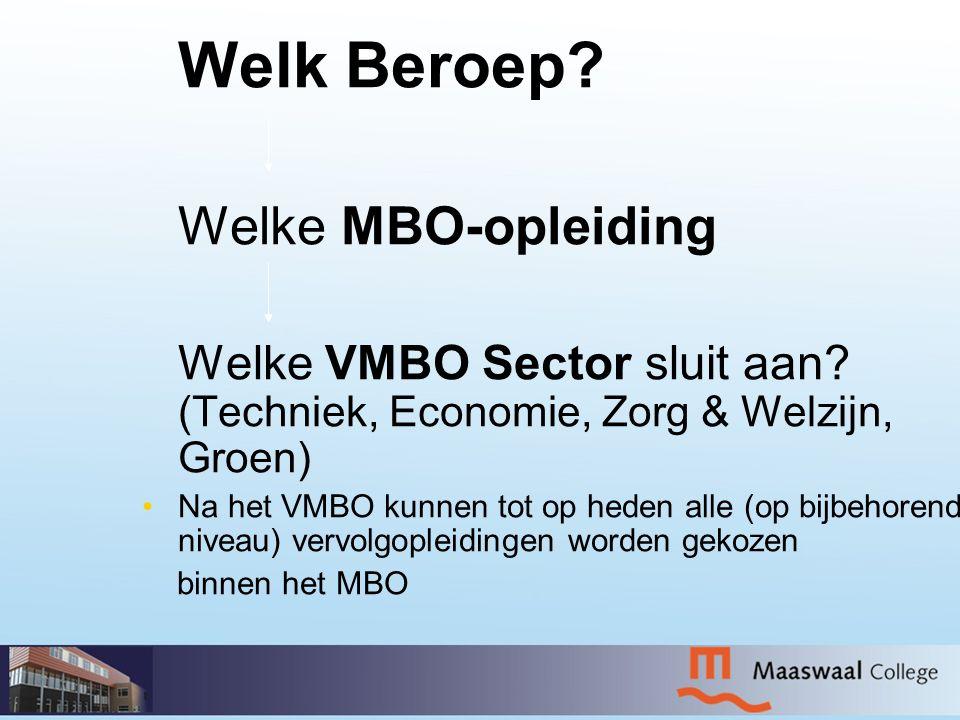Welk Beroep Welke MBO-opleiding