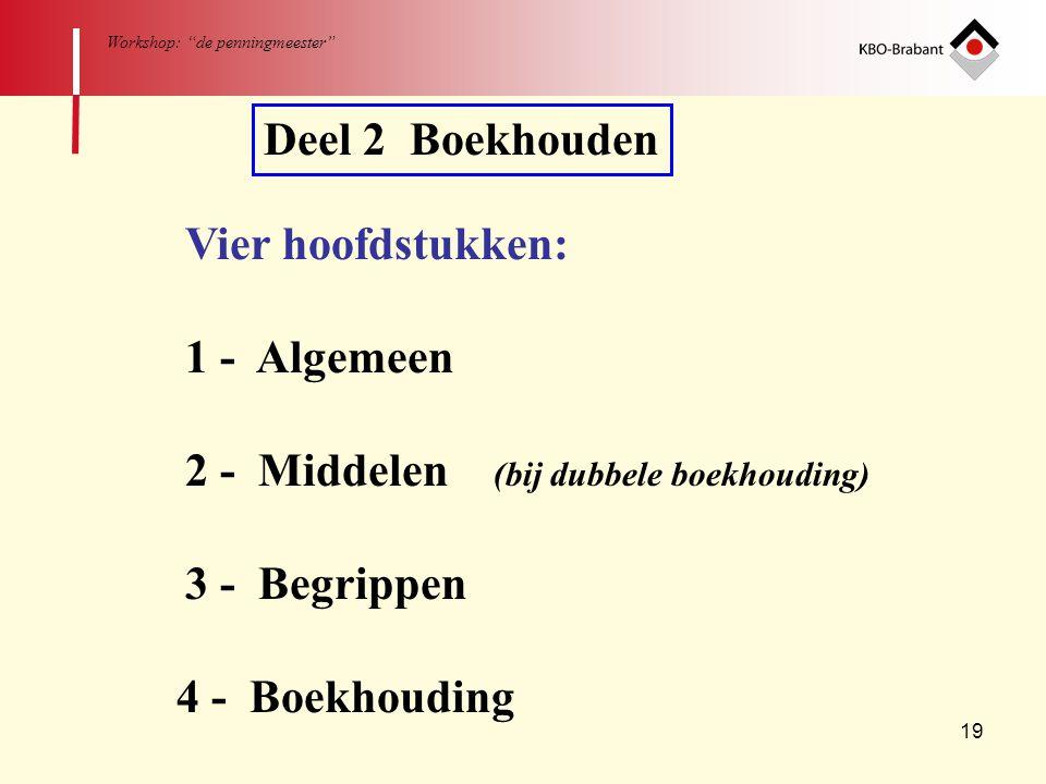 2 - Middelen (bij dubbele boekhouding)