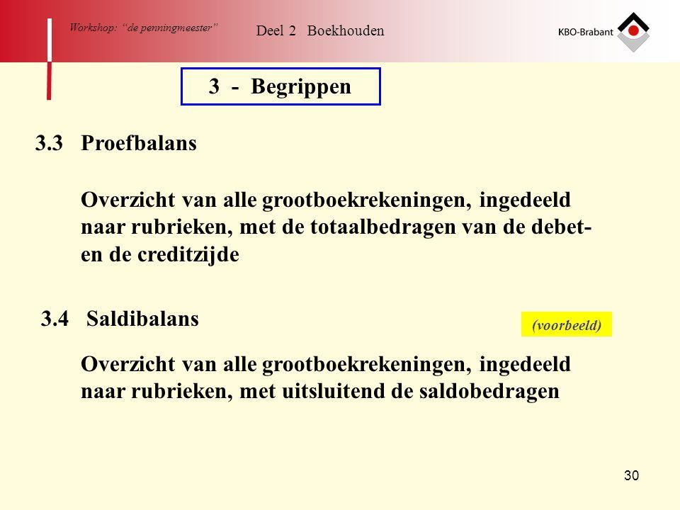 3 - Begrippen 3.3 Proefbalans