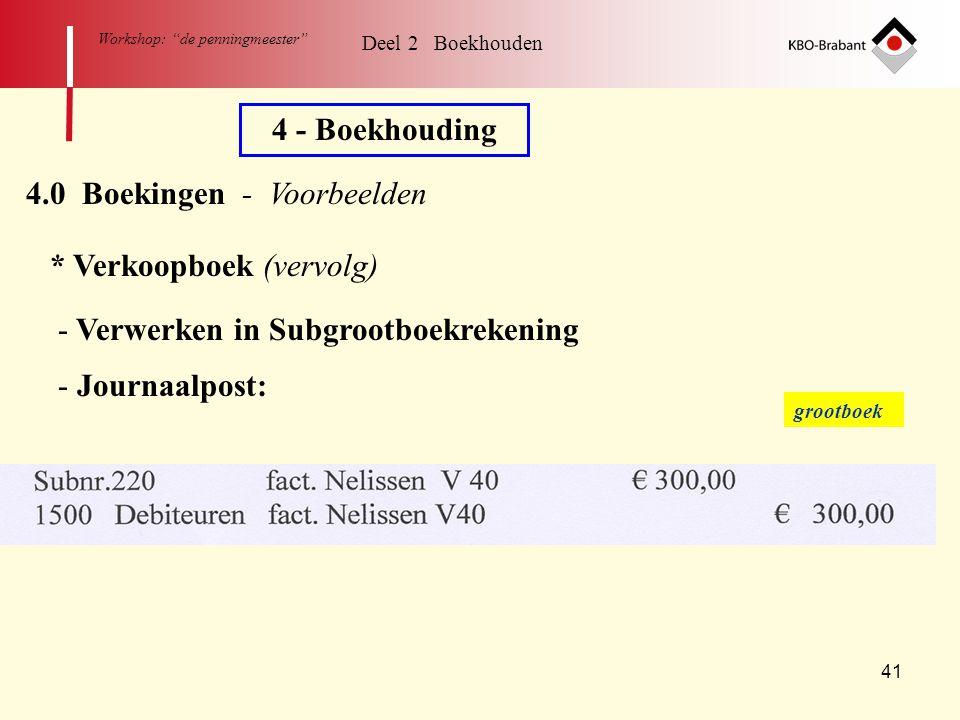 4.0 Boekingen - Voorbeelden