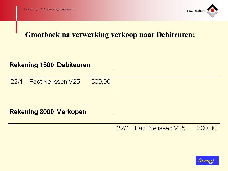 Grootboek na verwerking verkoop naar Debiteuren: