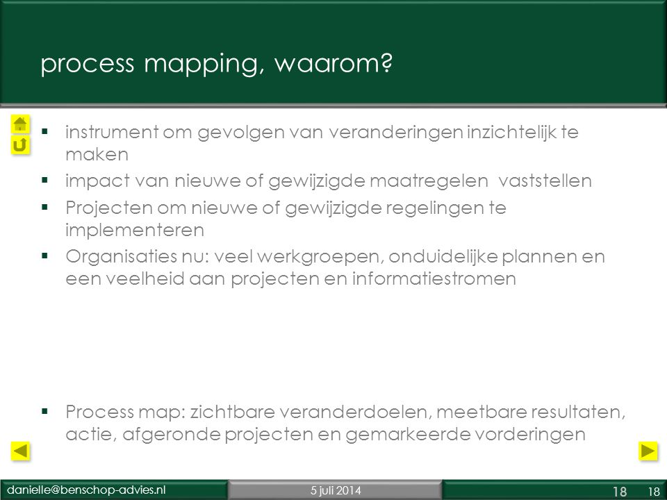process mapping, waarom