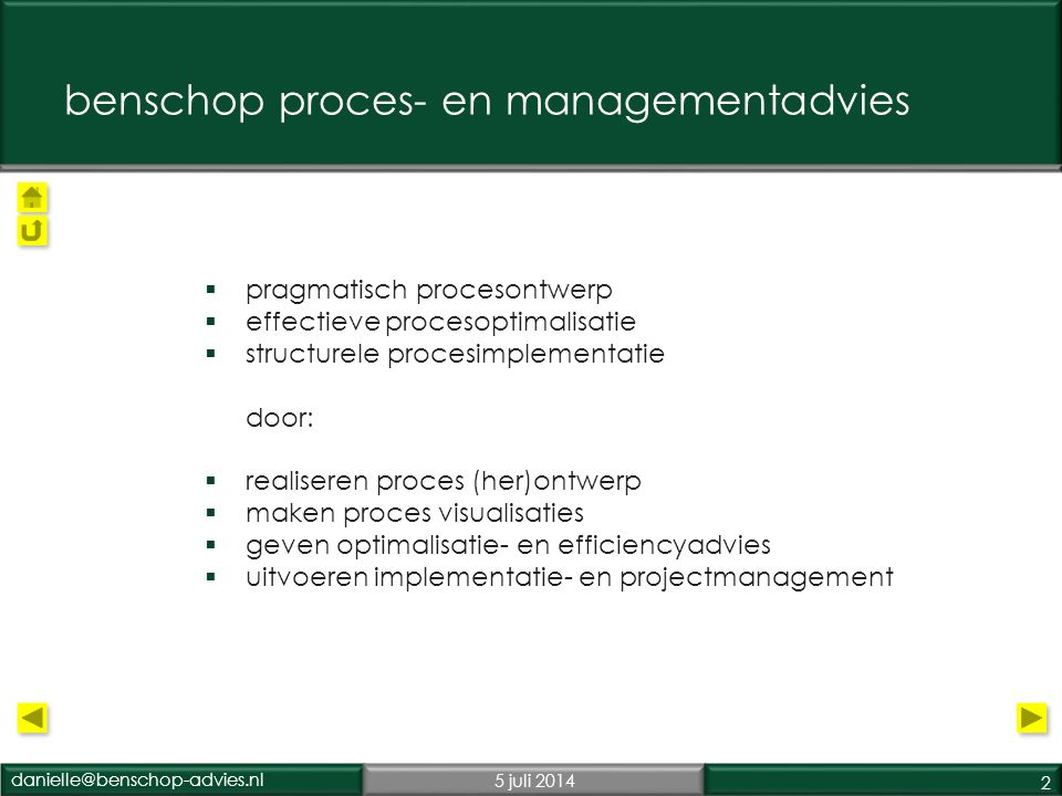 benschop proces- en managementadvies