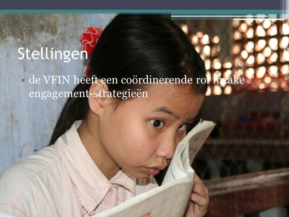 Stellingen de VFIN heeft een coördinerende rol inzake engagement-strategieën