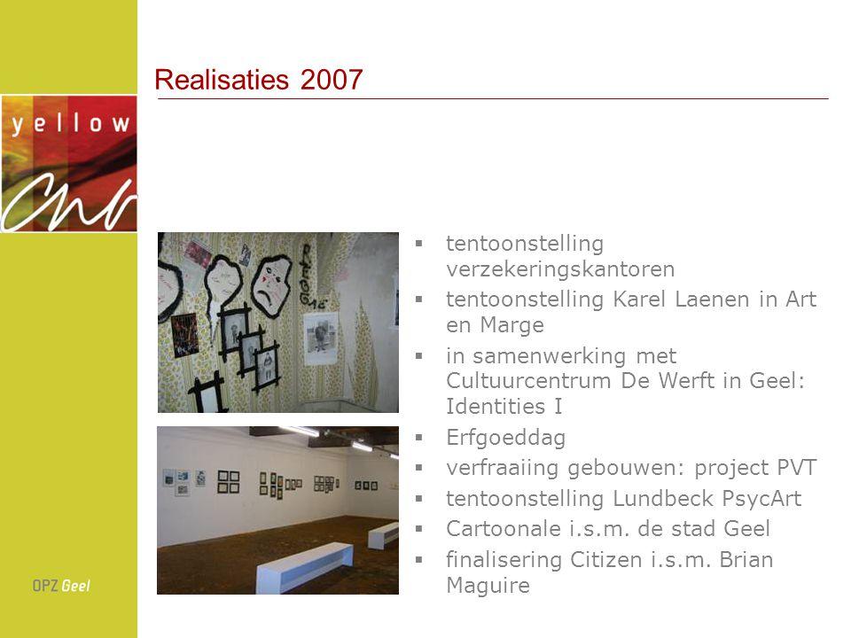 Realisaties 2007 tentoonstelling verzekeringskantoren