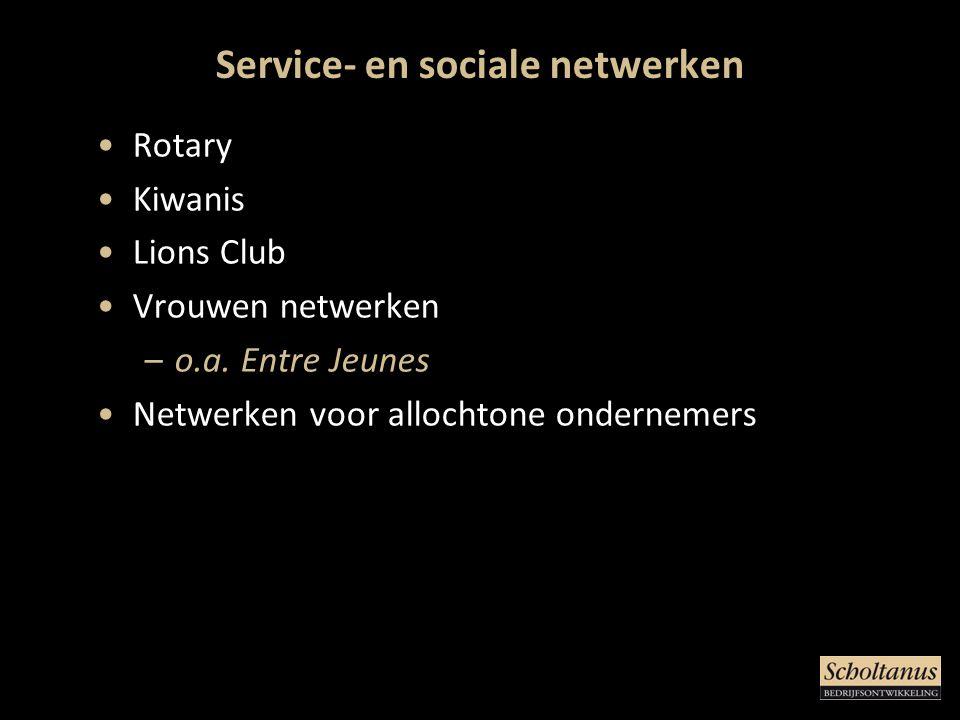 Service- en sociale netwerken
