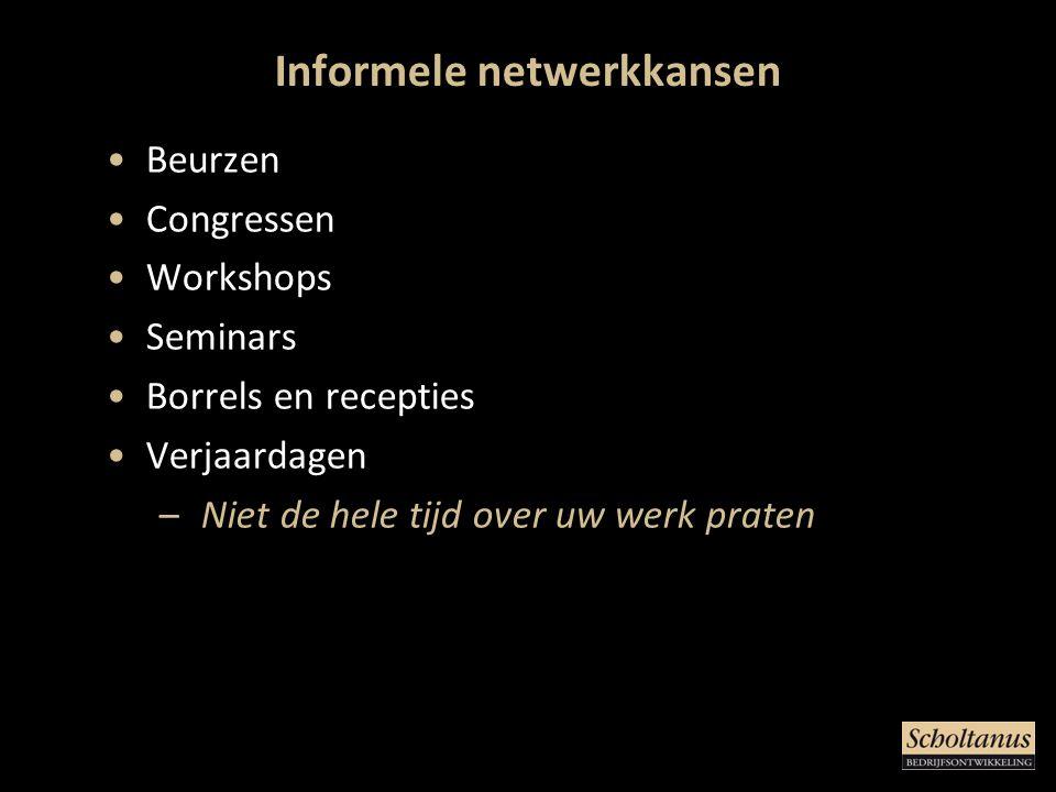 Informele netwerkkansen