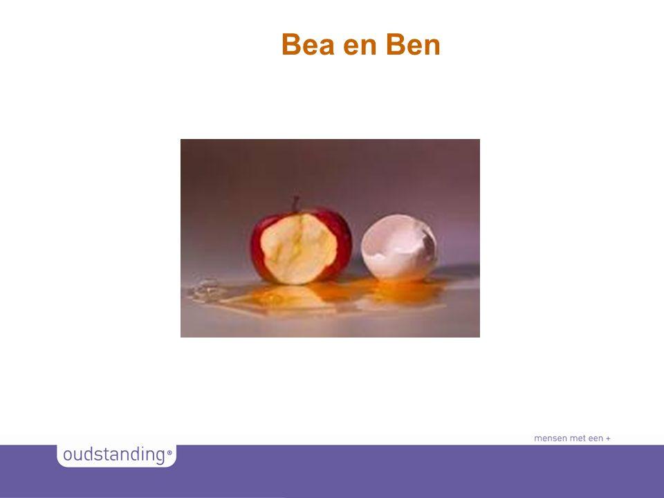Bea en Ben VERTEL: Ben is sinds anderhalf jaar werkeloze assistent filiaalmanager bank (54). Doel Bea: Actief meewerken aan vinden nieuw werk.