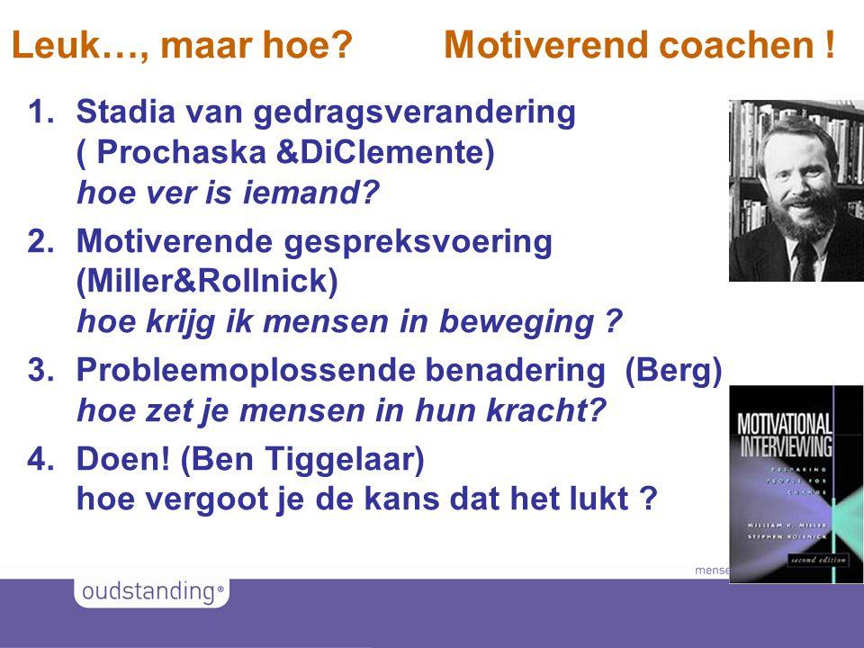 Leuk…, maar hoe Motiverend coachen !