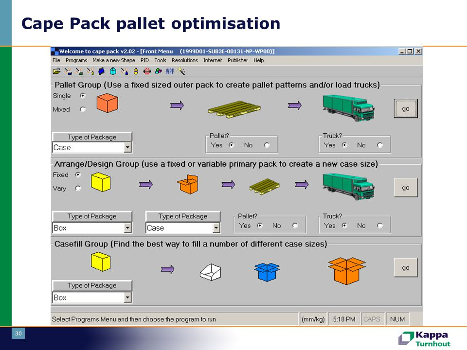 Cape Pack pallet optimisation