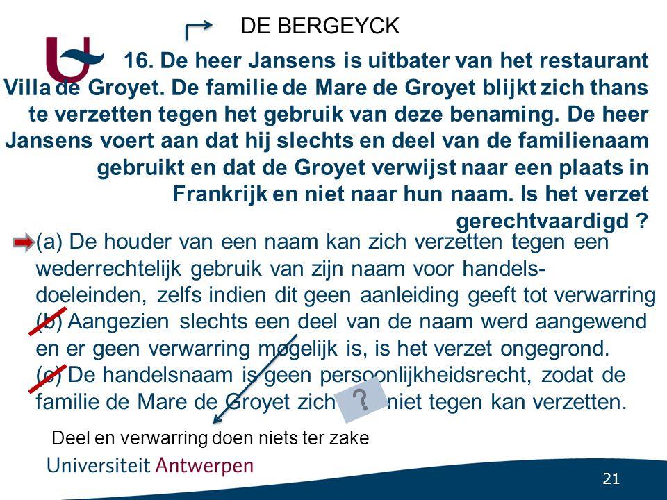 DE BERGEYCK