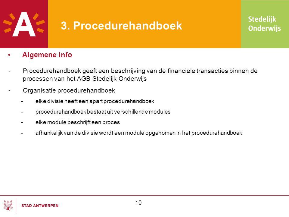 3. Procedurehandboek Algemene info