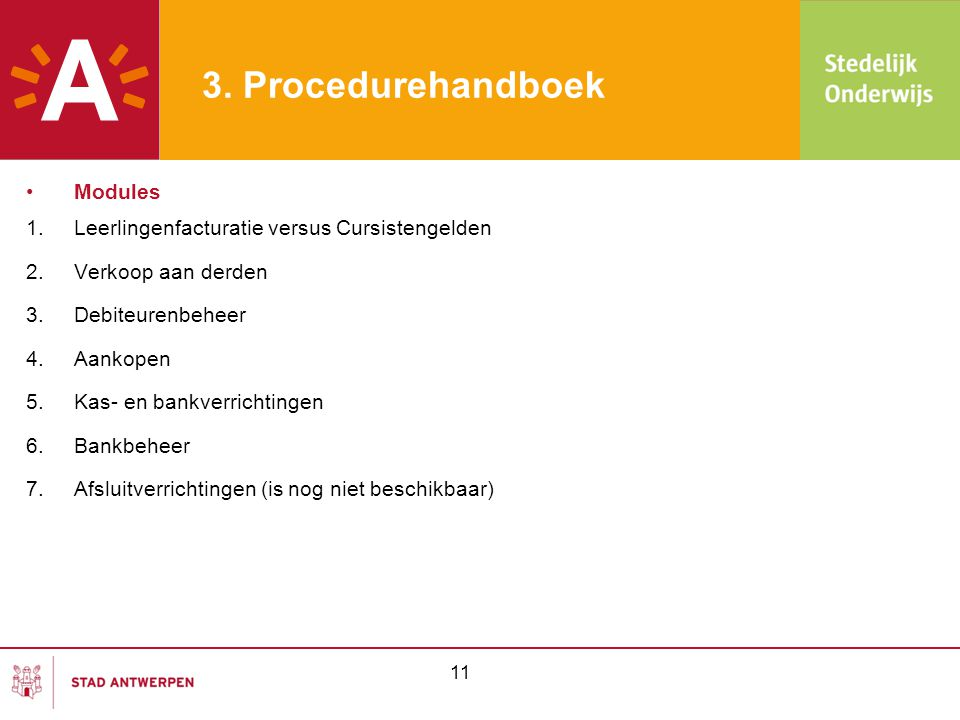 3. Procedurehandboek Modules