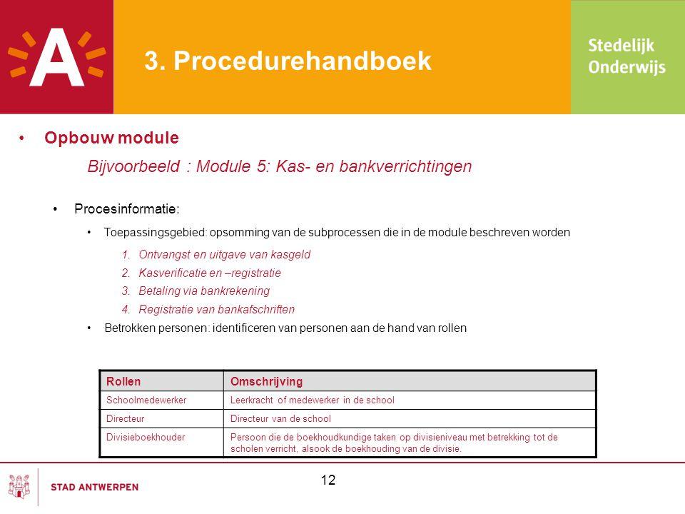 3. Procedurehandboek Opbouw module
