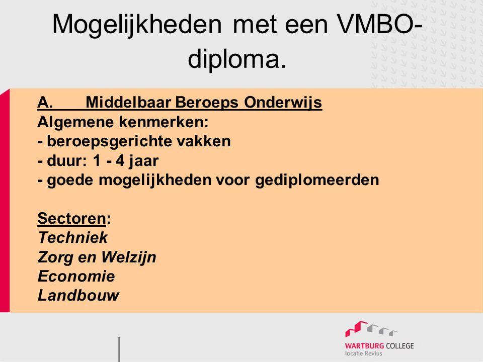 Mogelijkheden met een VMBO-diploma.