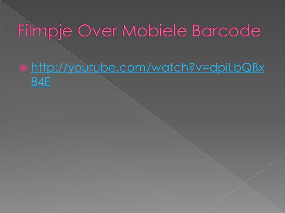 Filmpje Over Mobiele Barcode