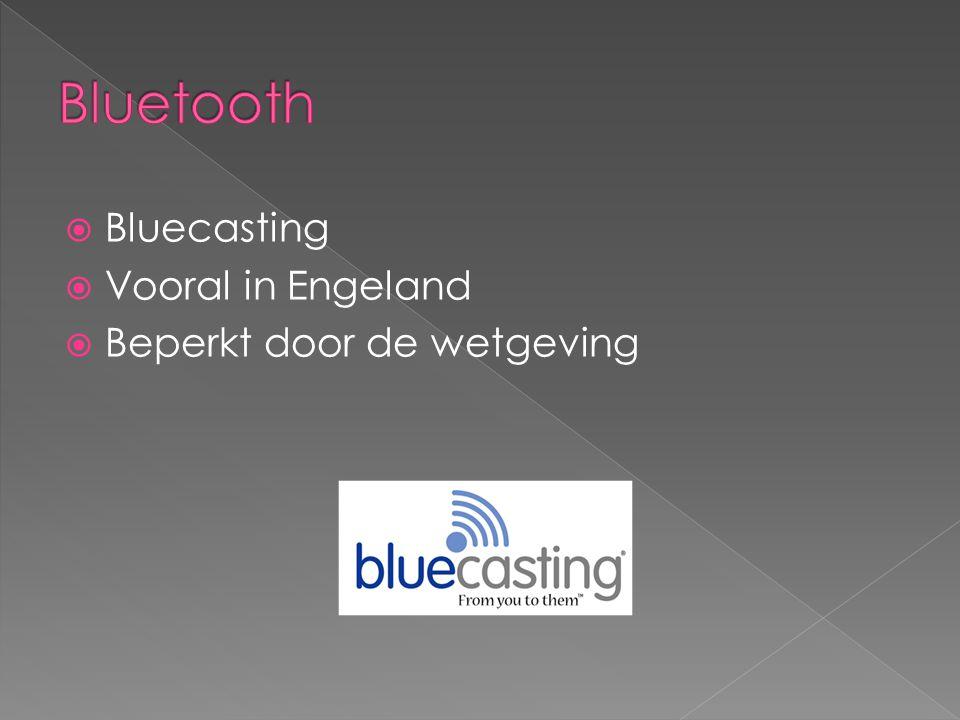 Bluetooth Bluecasting Vooral in Engeland Beperkt door de wetgeving