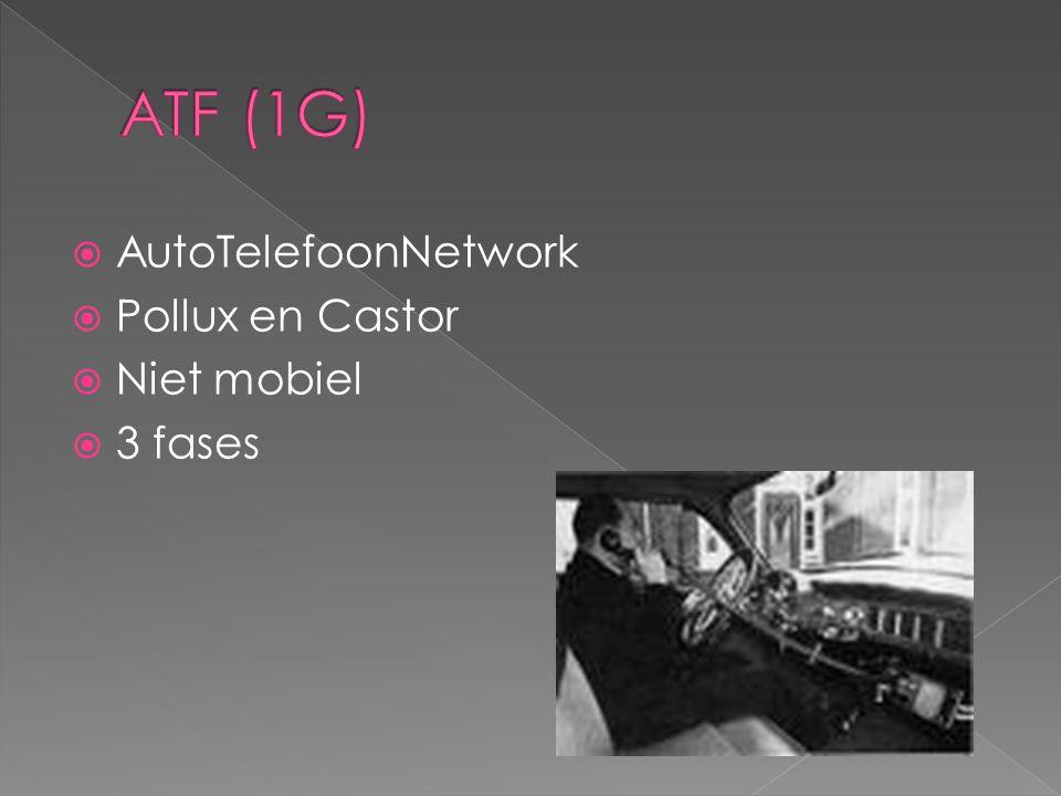 ATF (1G) AutoTelefoonNetwork Pollux en Castor Niet mobiel 3 fases