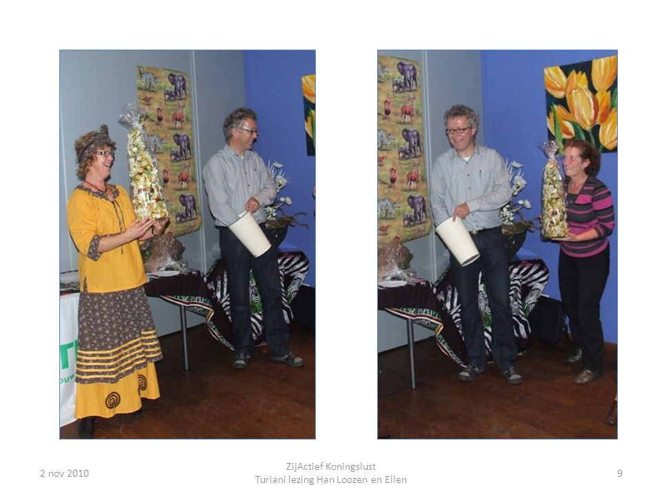 ZijActief Koningslust Turiani lezing Han Loozen en Ellen