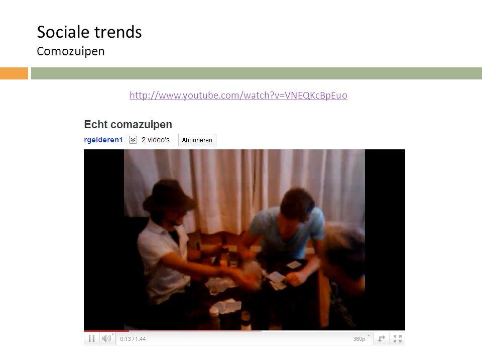 Sociale trends Comozuipen http://www.youtube.com/watch v=VNEQKcBpEuo