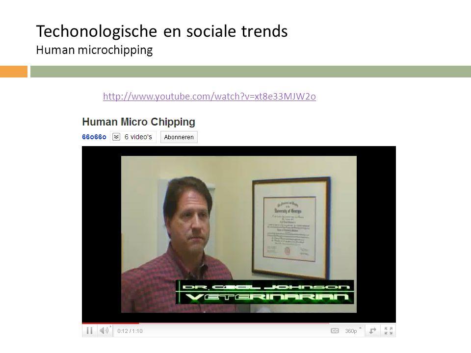 Techonologische en sociale trends