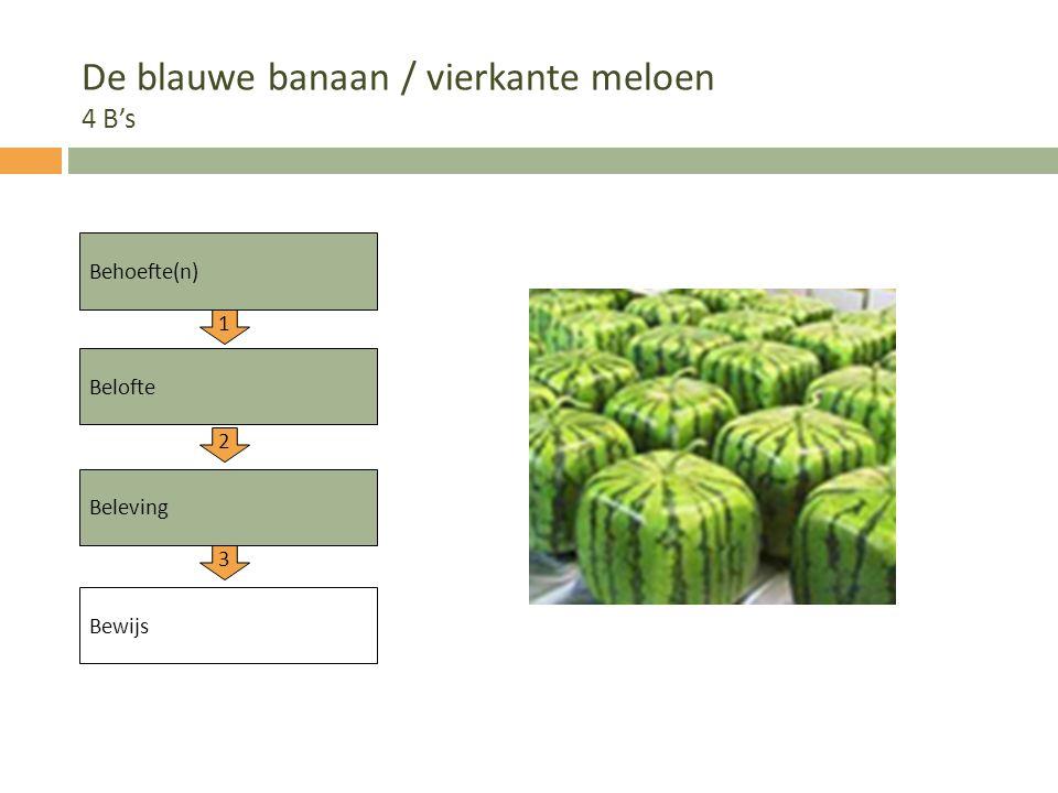 De blauwe banaan / vierkante meloen 4 B's