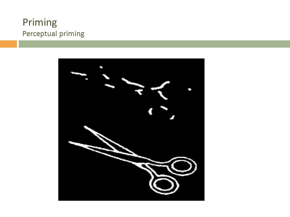 Priming Perceptual priming