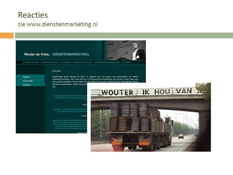 Reacties zie www.dienstenmarketing.nl