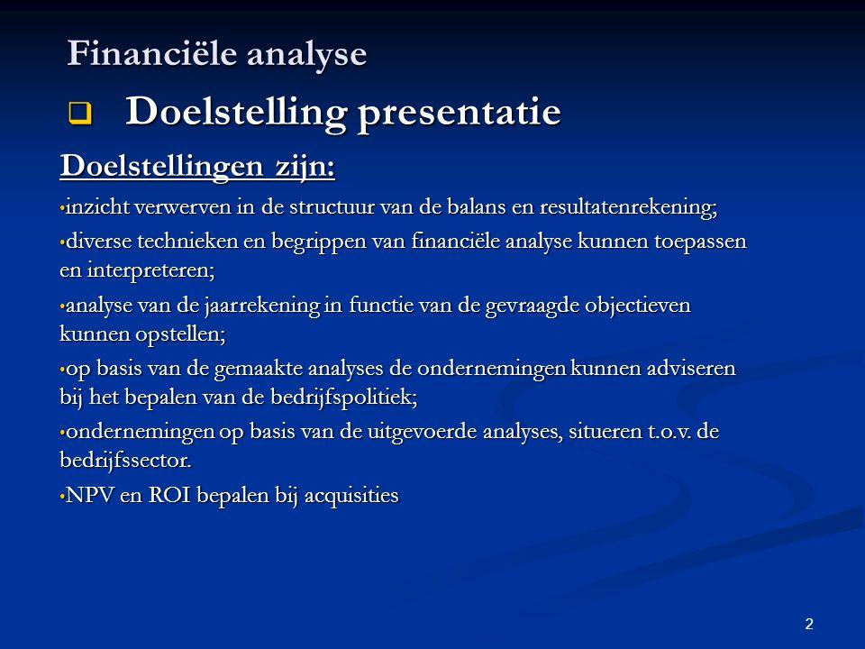 Doelstelling presentatie