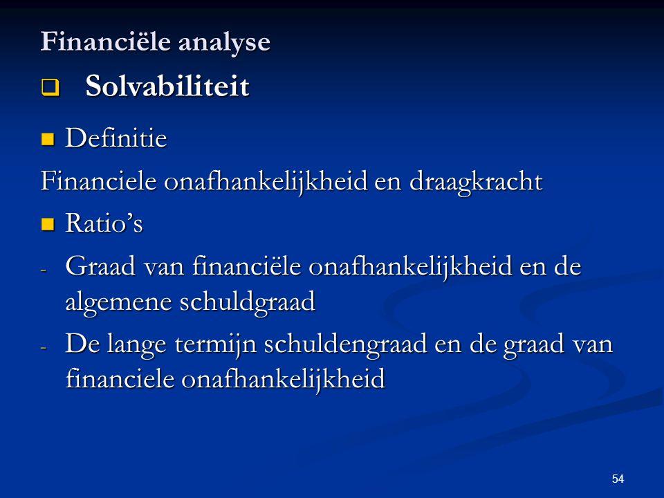 Solvabiliteit Financiële analyse Definitie