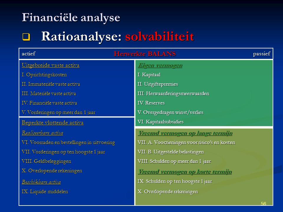 Ratioanalyse: solvabiliteit