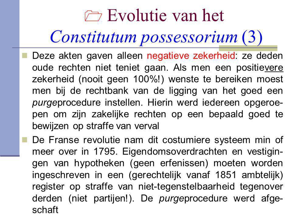  Evolutie van het Constitutum possessorium (3)