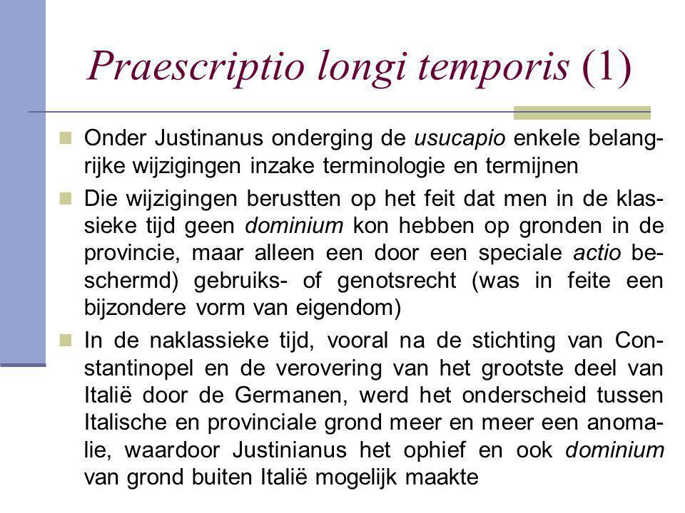 Praescriptio longi temporis (1)