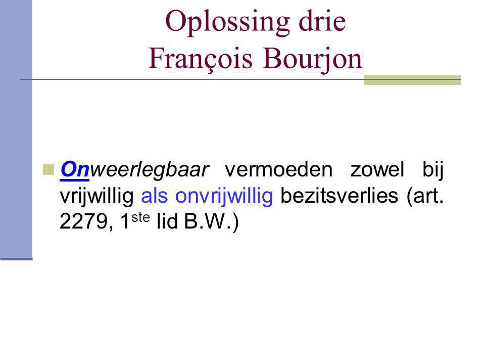 Oplossing drie François Bourjon