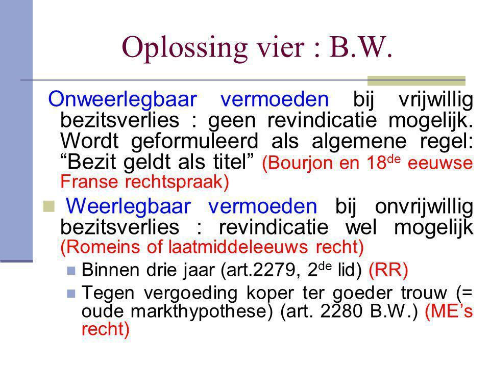 Oplossing vier : B.W.