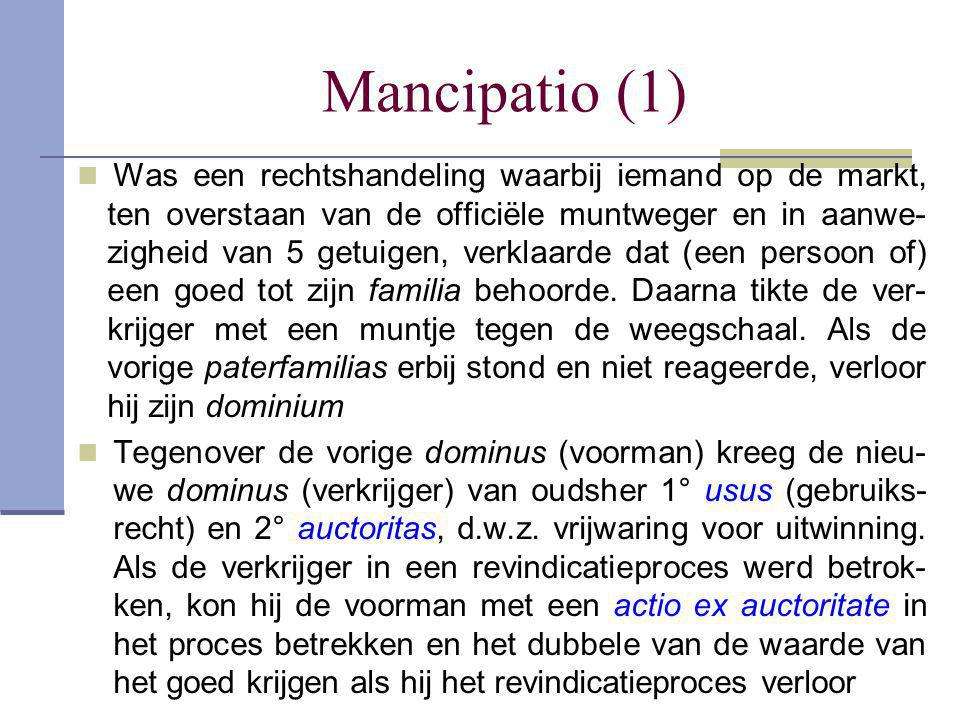 Mancipatio (1)