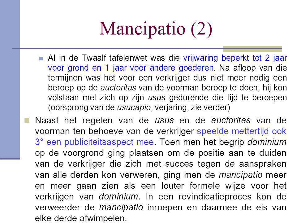 Mancipatio (2)