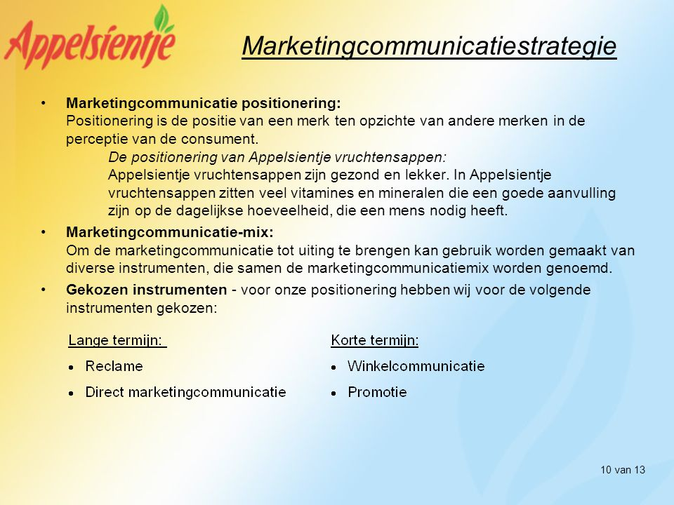 Marketingcommunicatiestrategie