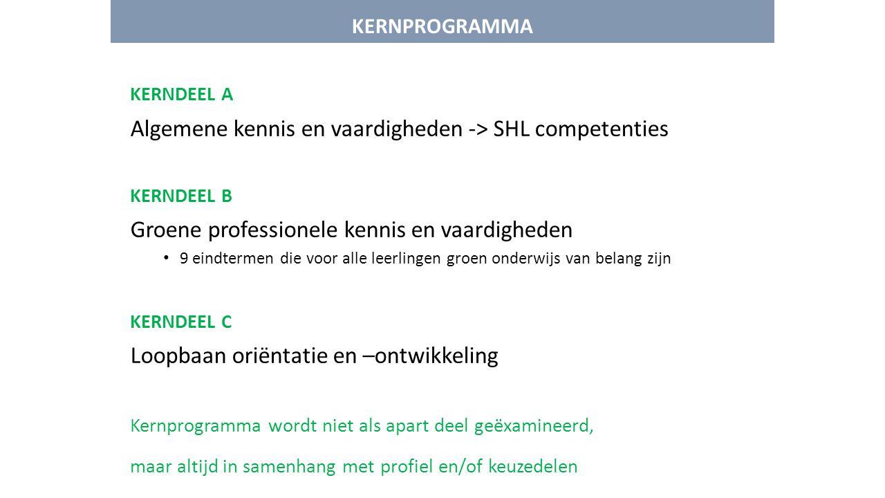 Algemene kennis en vaardigheden -> SHL competenties