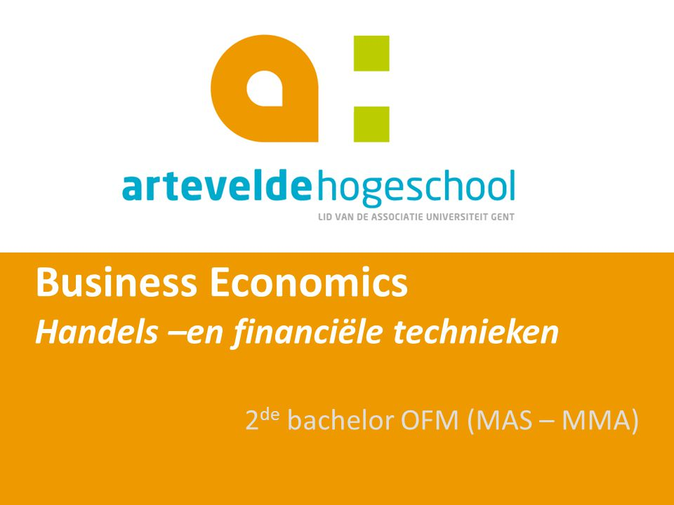 Business Economics Handels –en financiële technieken