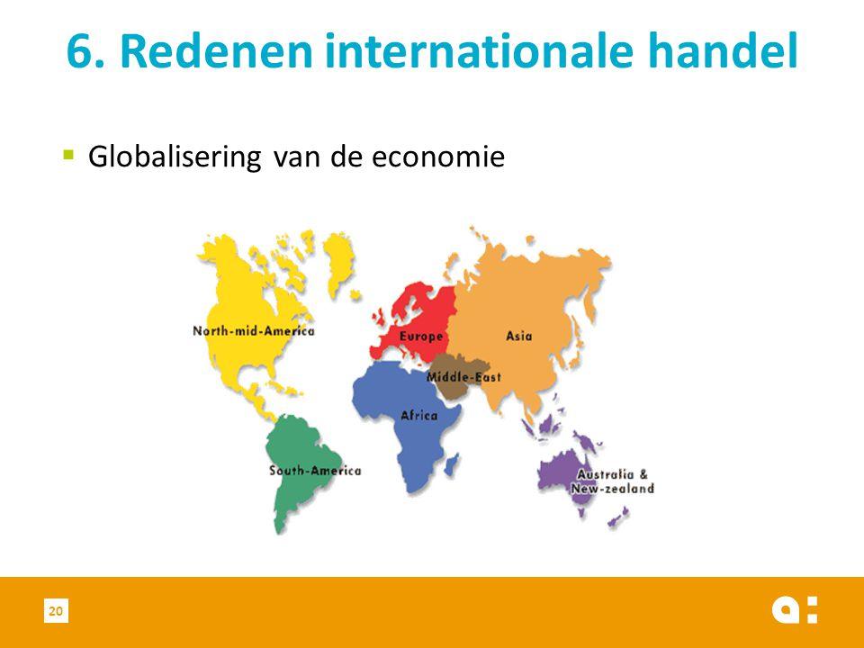 6. Redenen internationale handel