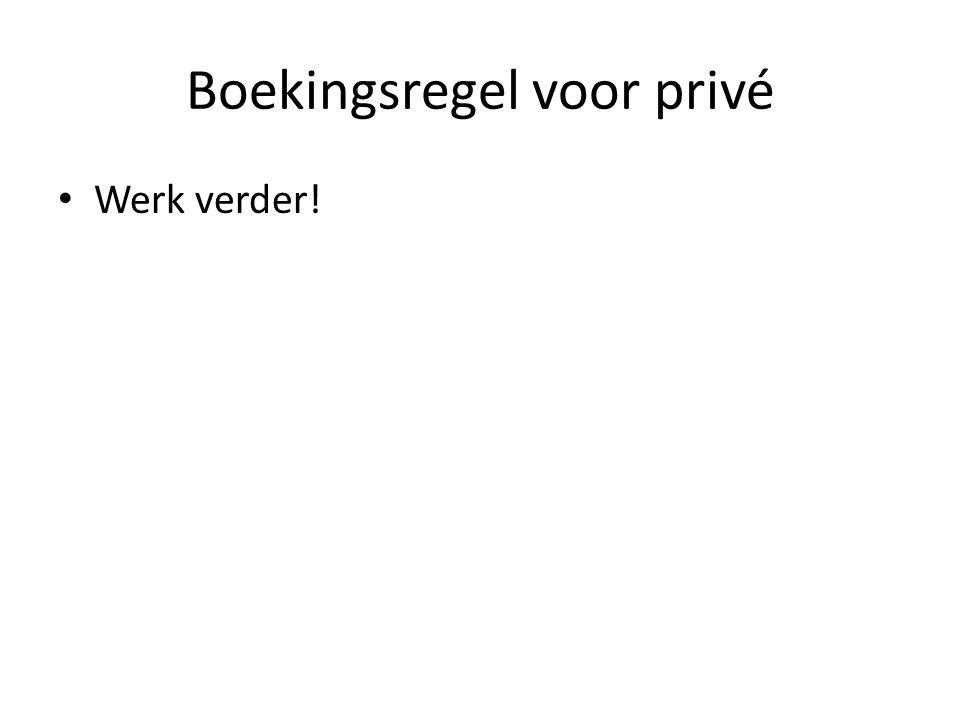 Boekingsregel voor privé