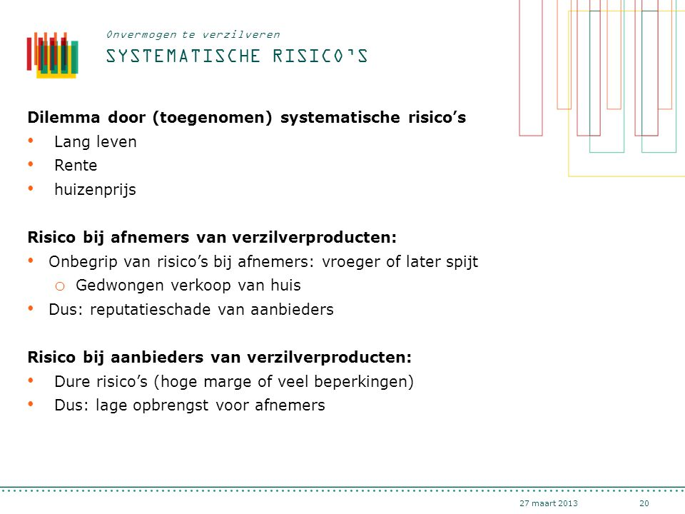 Systematische risico's