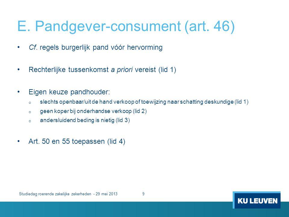E. Pandgever-consument (art. 46)