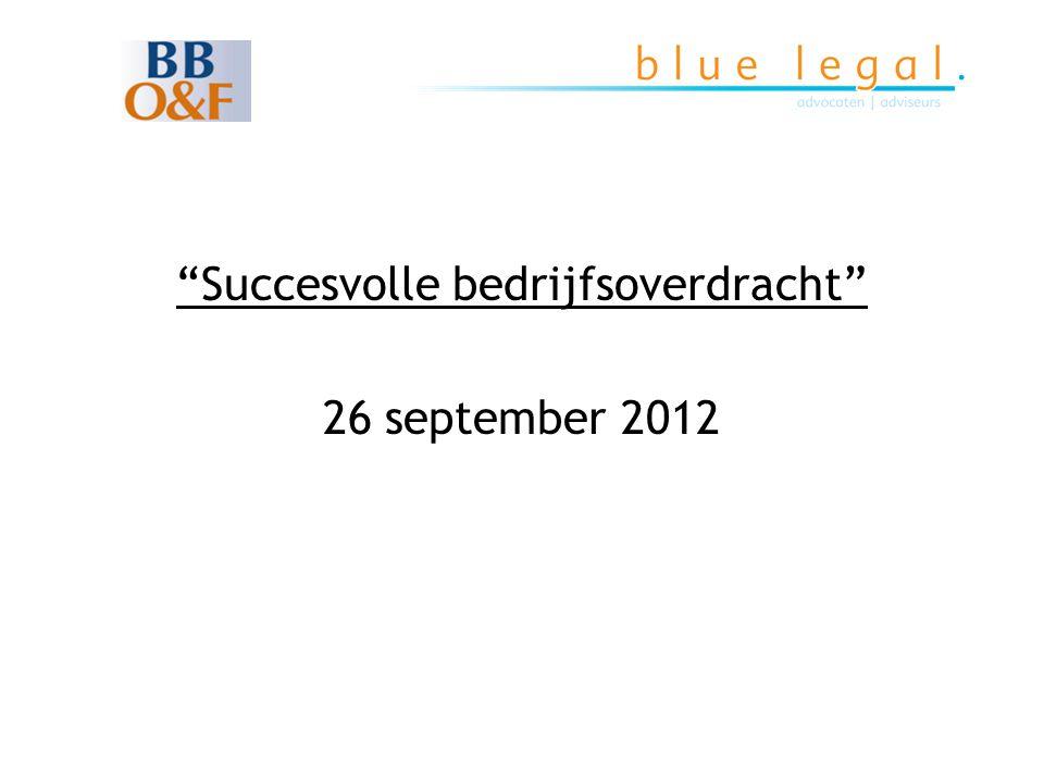 Succesvolle bedrijfsoverdracht 26 september 2012