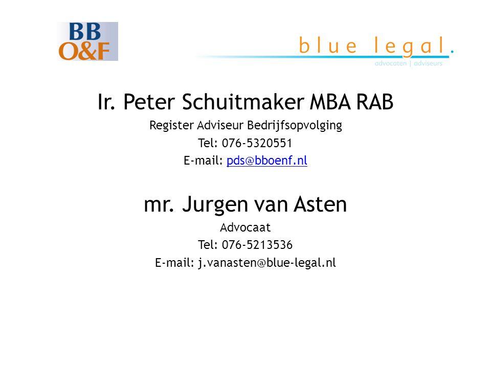 Ir. Peter Schuitmaker MBA RAB