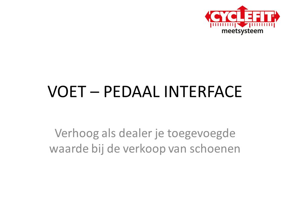 VOET – PEDAAL INTERFACE