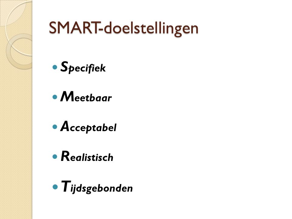 SMART-doelstellingen