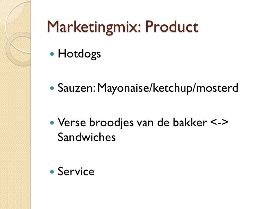Marketingmix: Product